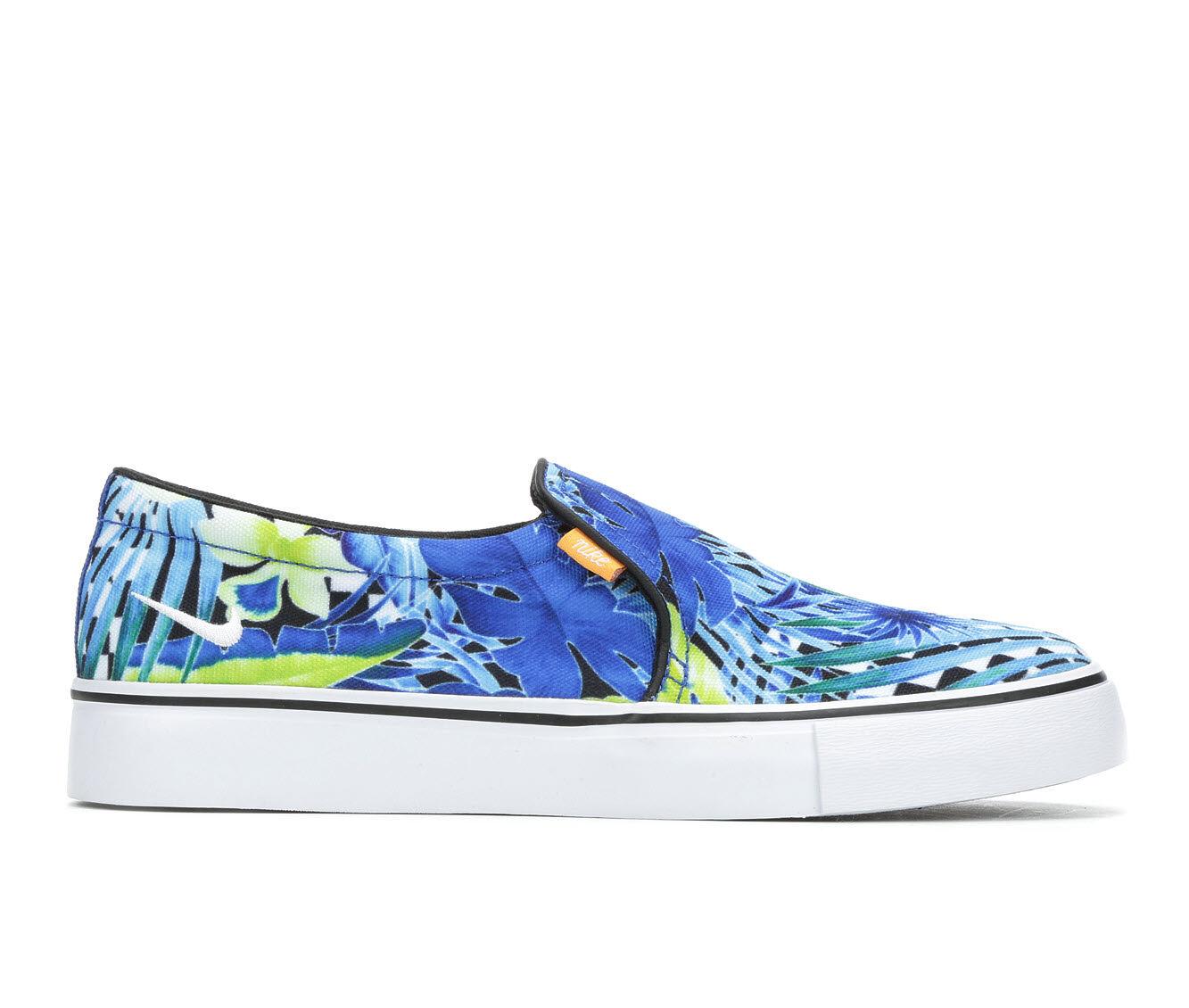 Women's Nike Court Royale AC Slip On Print Sneakers Blue/Green/Wht