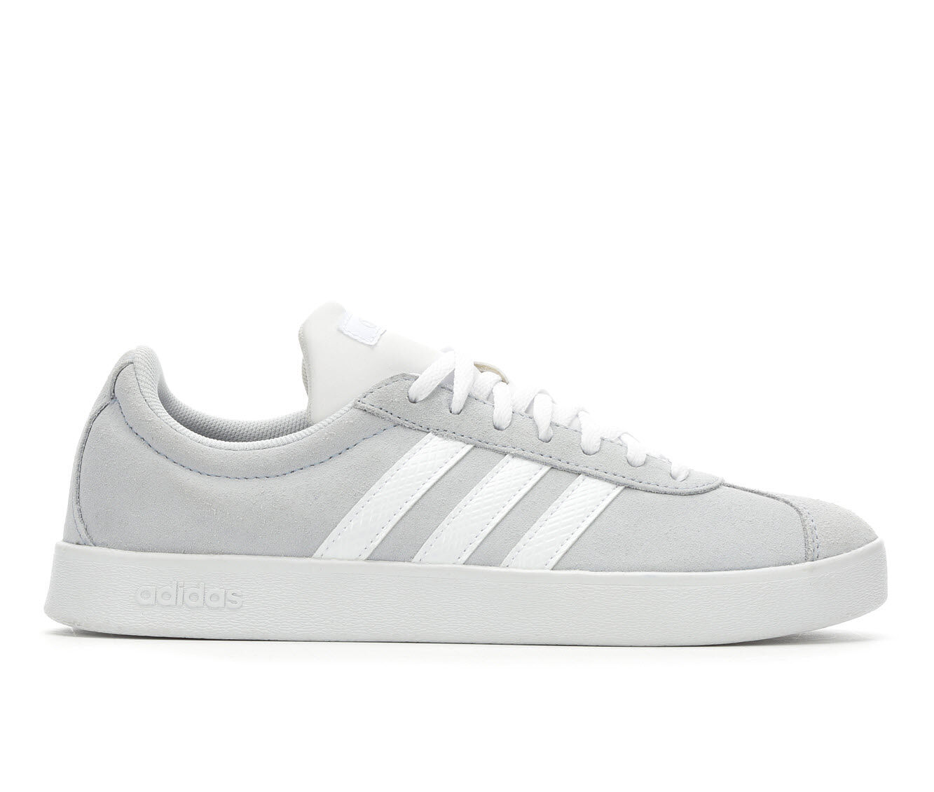 Women's Adidas VL Court 2.0 Tennis Shoes Blue/White/Gry