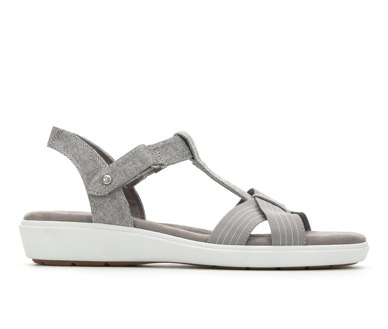 Women's Grasshoppers Ruby T-Strap Sandals Grey