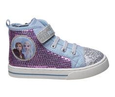 Girls' Disney Toddler & Little Kid Frozen Canvas Hi-Top Sneakers