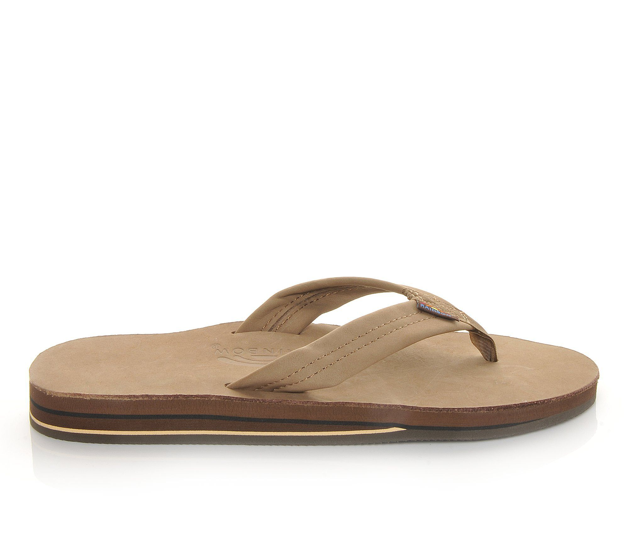 Men's Rainbow Sandals Premier Leather Flip-Flops Dark Brown