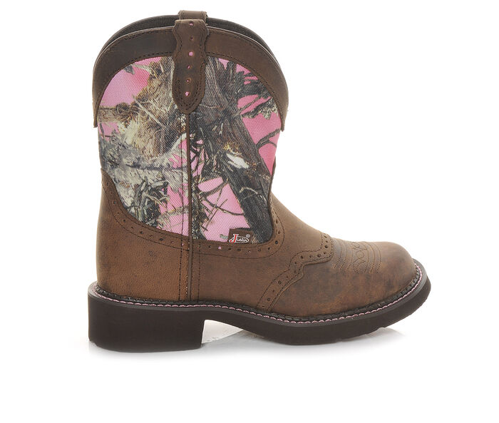 "Women's Justin Boots Gypsy L9610 8"" Pink Camo Western Boots"