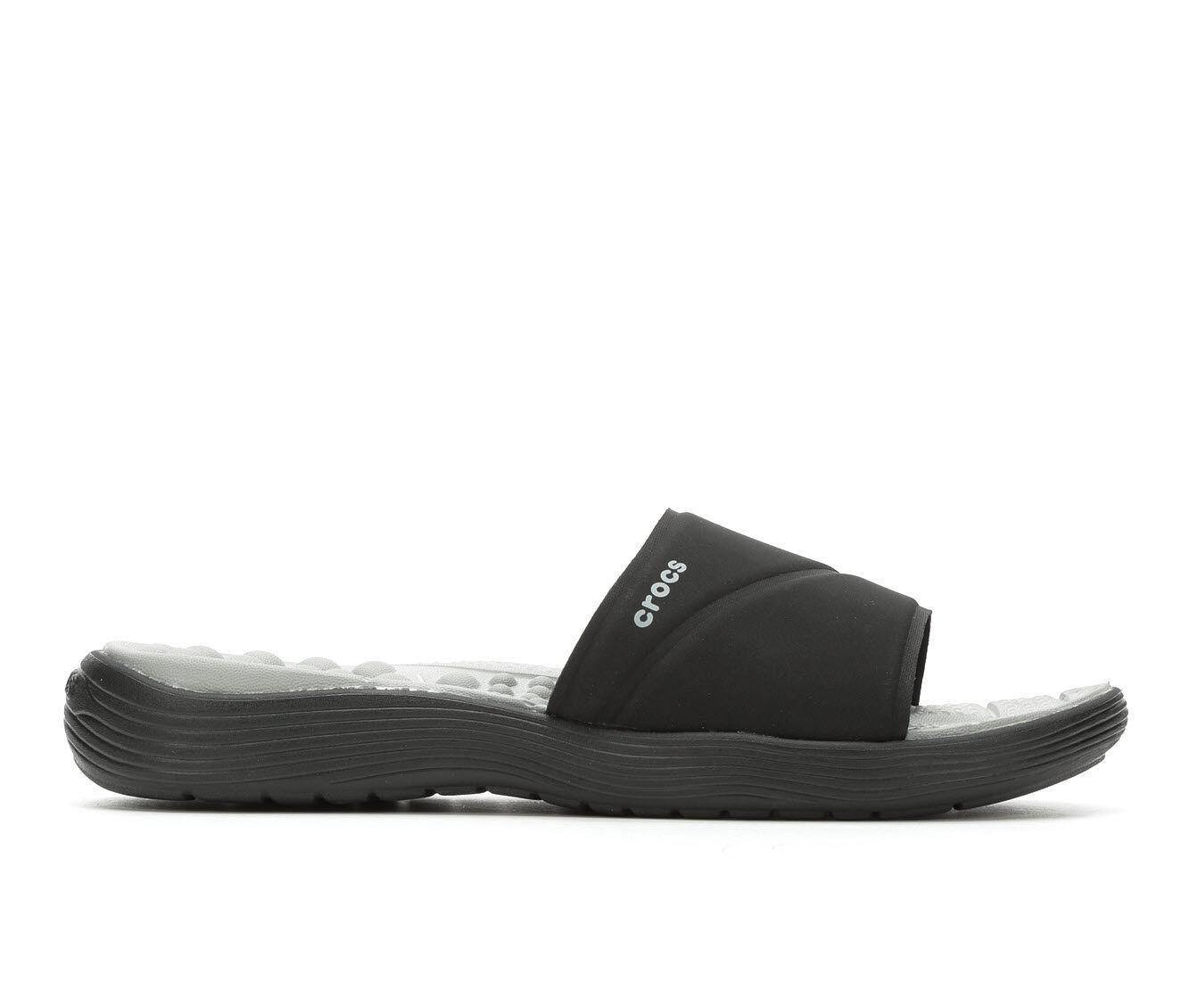 clearance price Women's Crocs Reviva Slides Black/Black