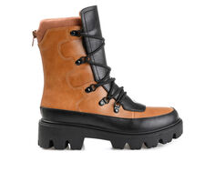 Women's Journee Collection Terrain Lugged Lace-Up Boots