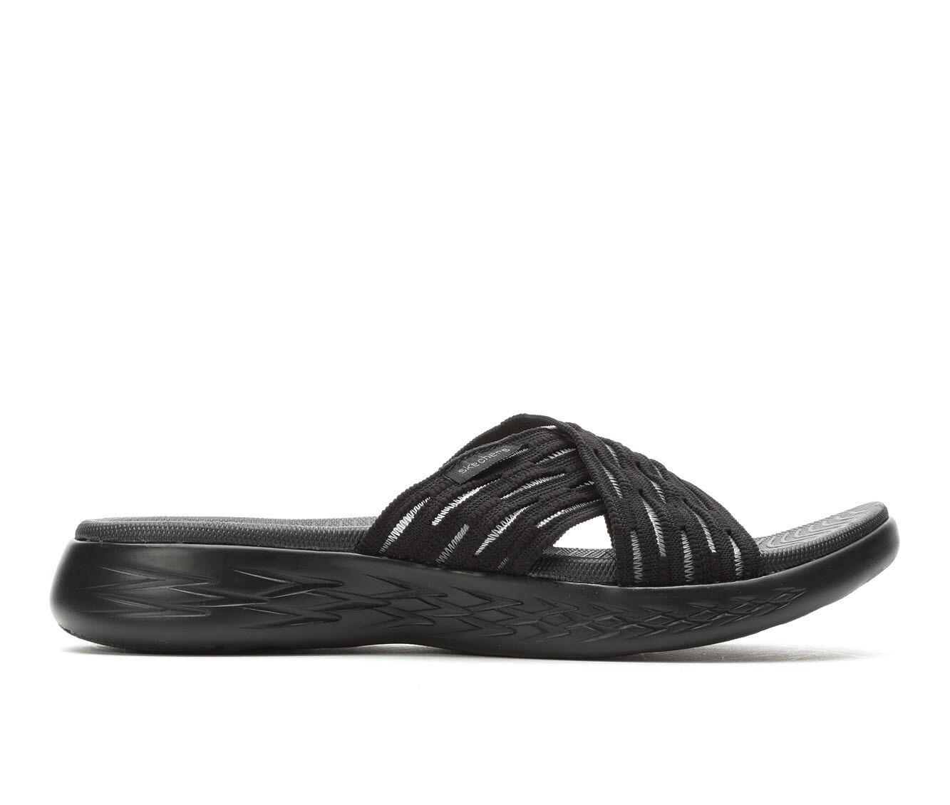 full size Women's Skechers Go Sunrise 16167 Sandals Black