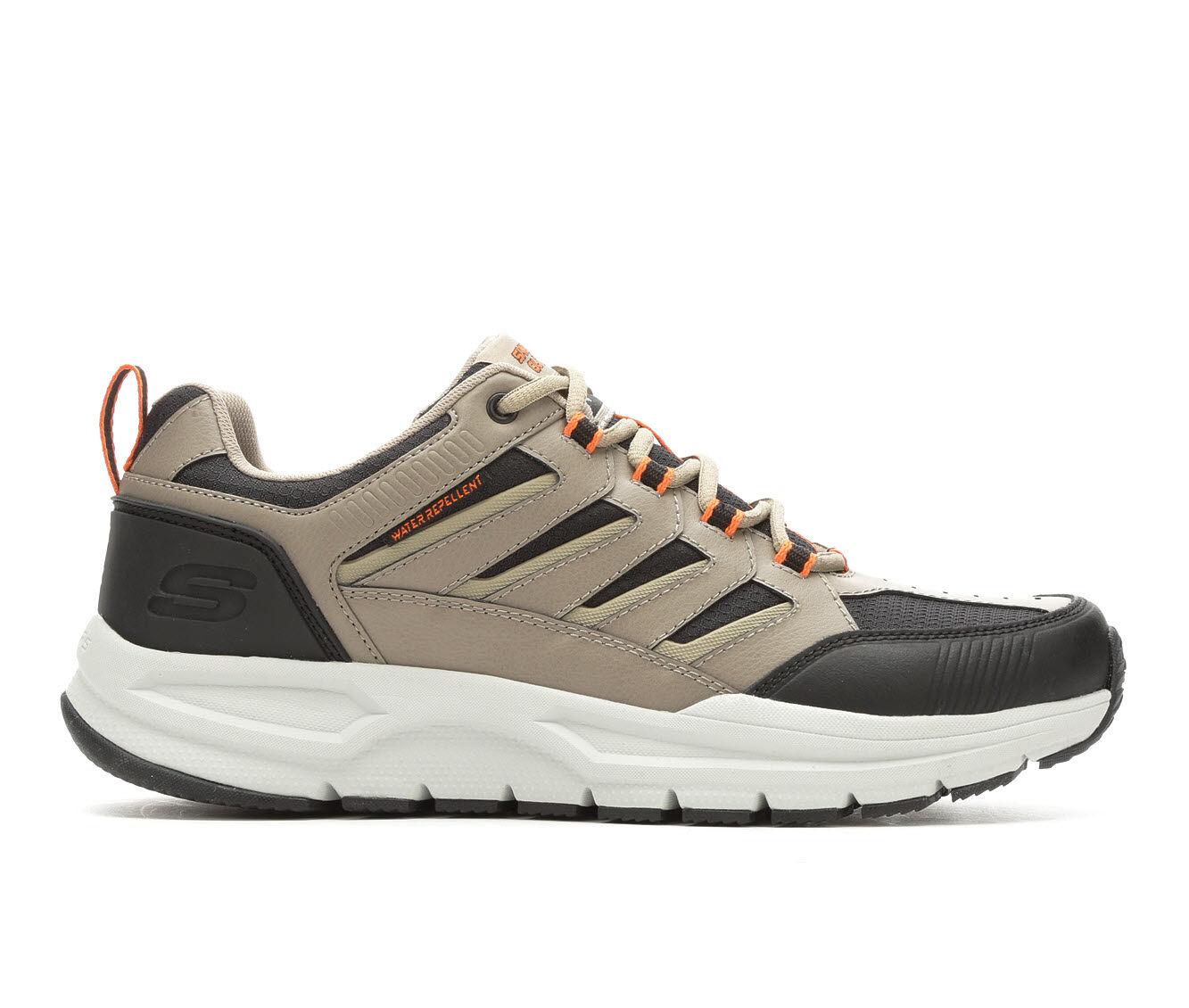 shop cheap new series Men's Skechers Escape Plan 2.0 Running Shoes Tan/Blk/Wht/Org