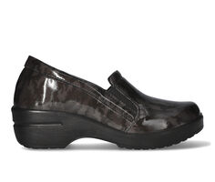 Women's Easy Works by Easy Street Lezza Black Camo Slip-Resistant Clogs