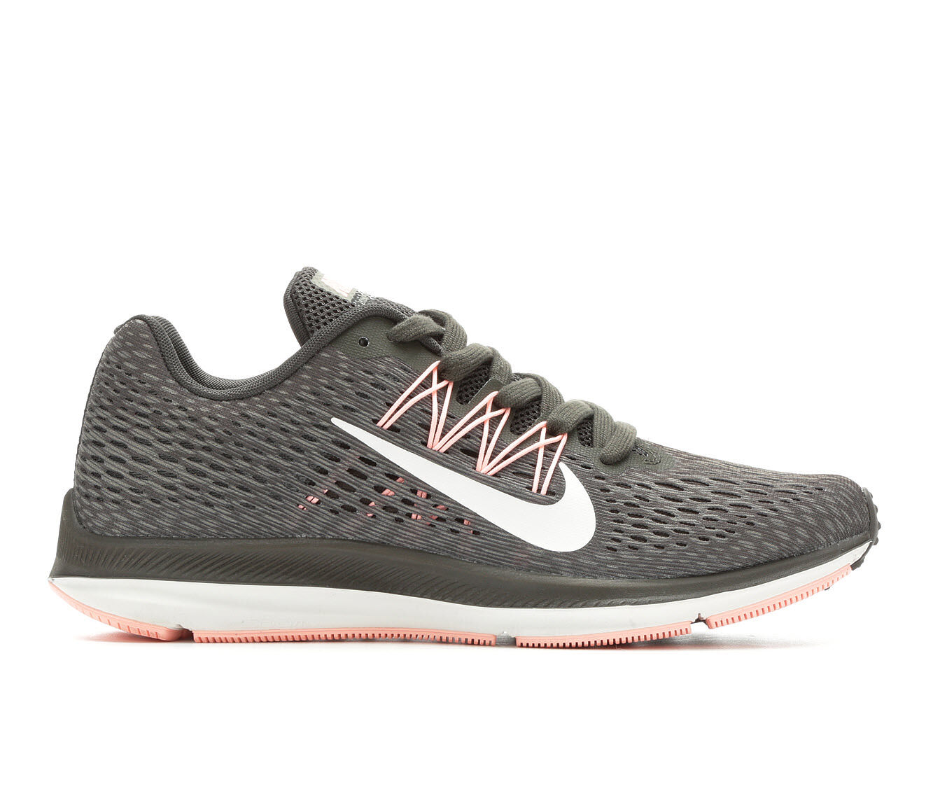 cheapest new series Women's Nike Zoom Winflo 5 Running Shoes Grey/Wht/Stucco