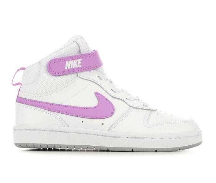 Girls' Nike Little Kid Court Borough Mid 2 Sneakers
