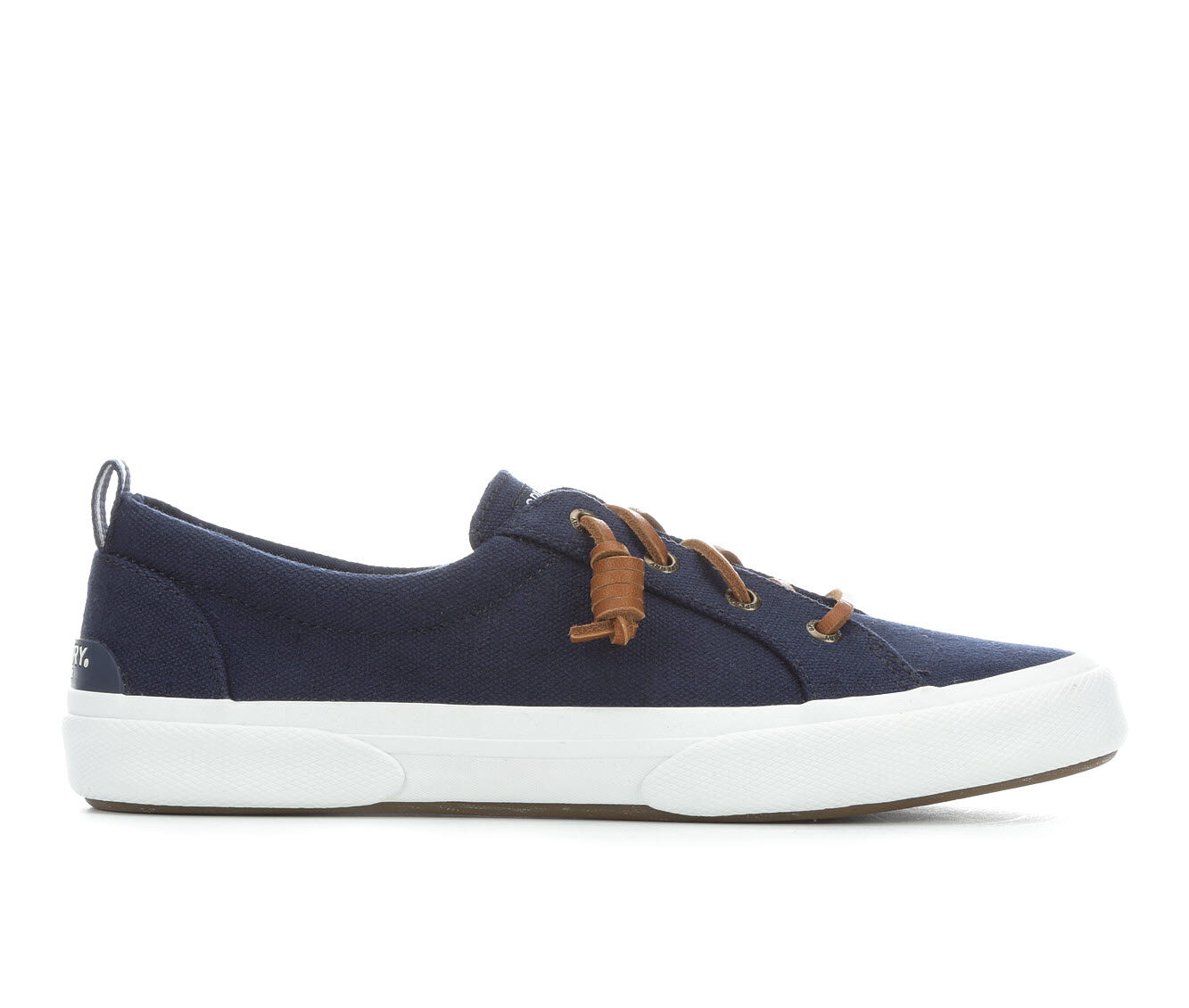 Delicate styles Women's Sperry Pier Wave Lace to Toe Canvas Sneakers Navy
