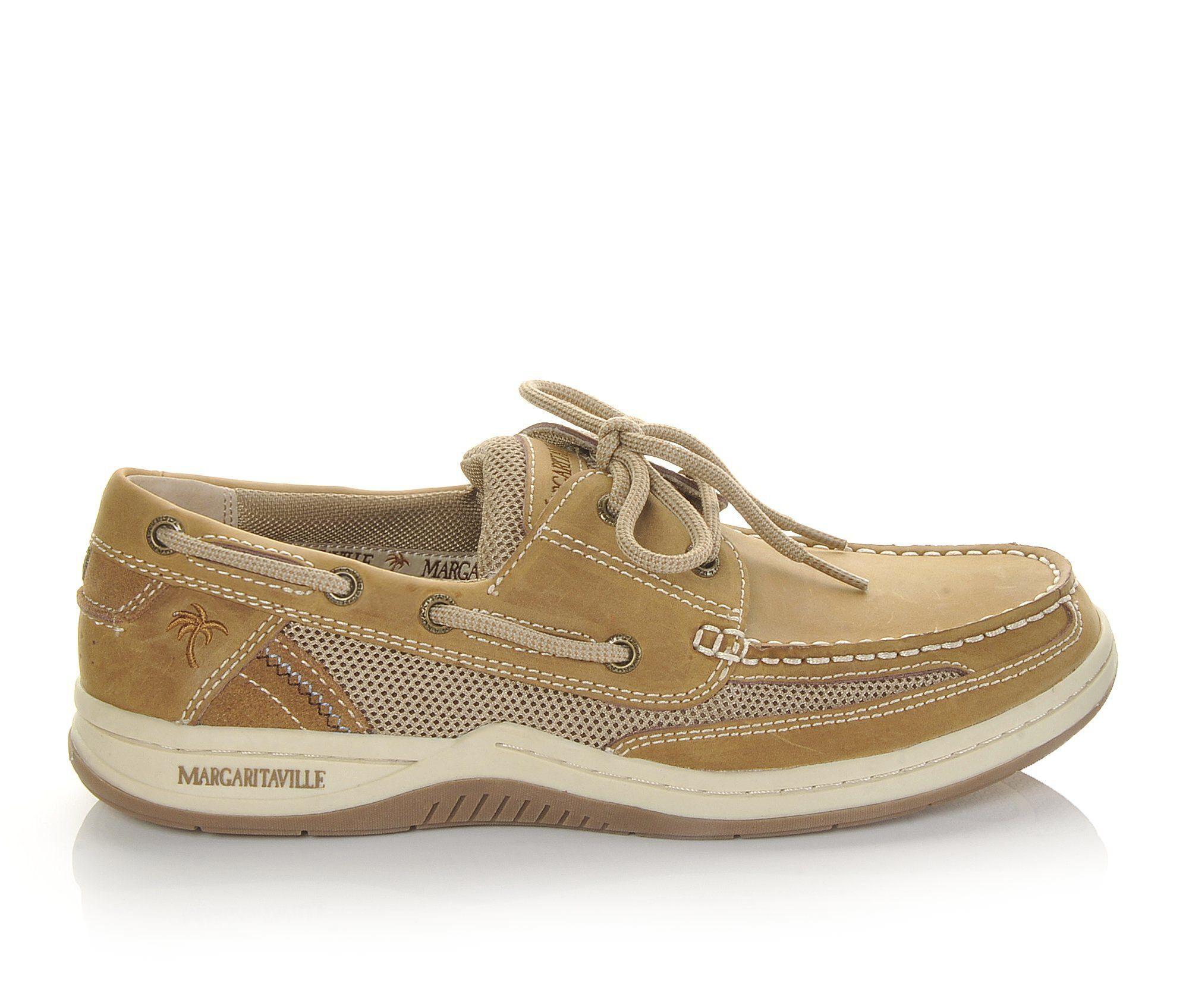 Men's Margaritaville Anchor 2 Eye Boat Shoes Light Tan