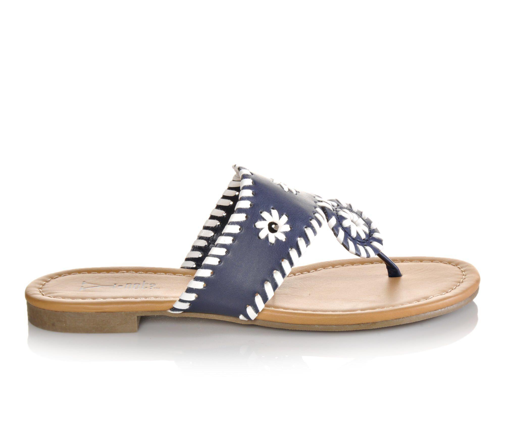 Women's Y-Not Crissy Flip-Flops Navy/White