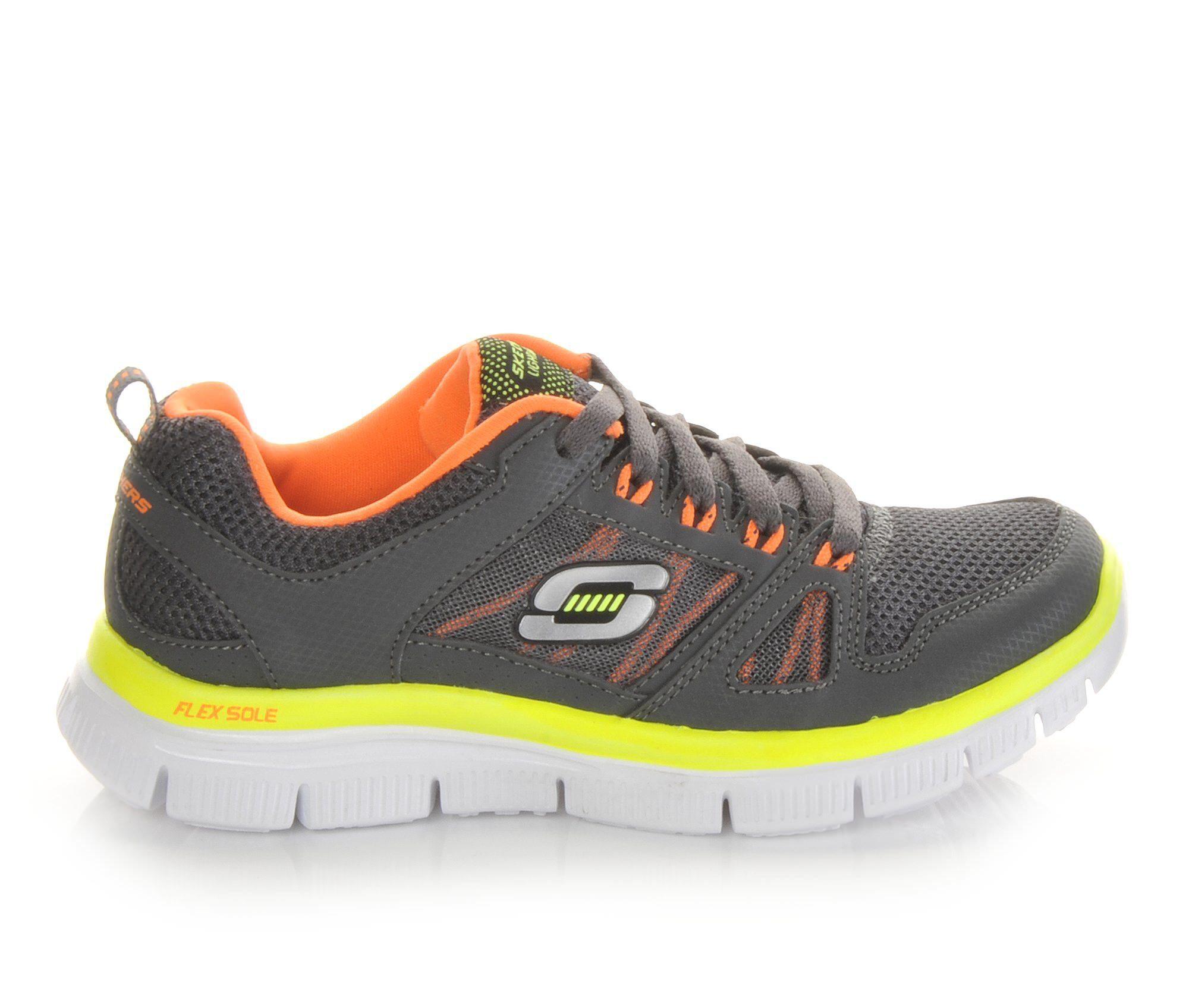 Skechers Shoes Skechers Flex Advantage 10 5 7 Boys Sports Shoes Charcoal/Orange