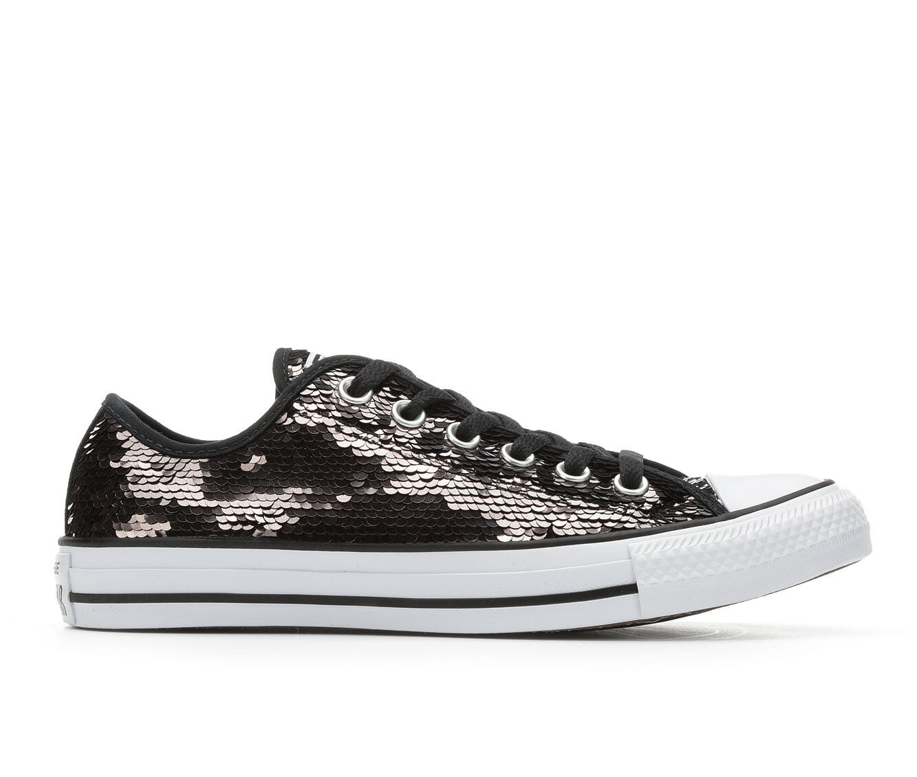 Women Shoes - Converse Ox Sequin White K5MNNLOI