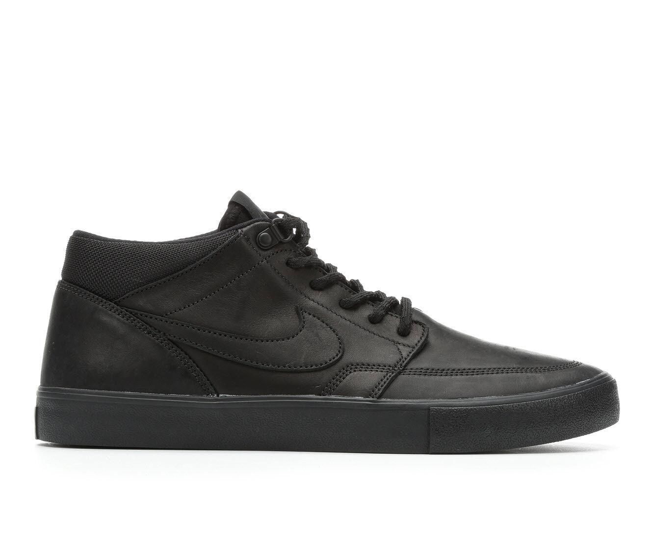 Men's Nike Portmore II Solar Mid Leather Premium Skate Shoes get authentic online EH0QZC2hs