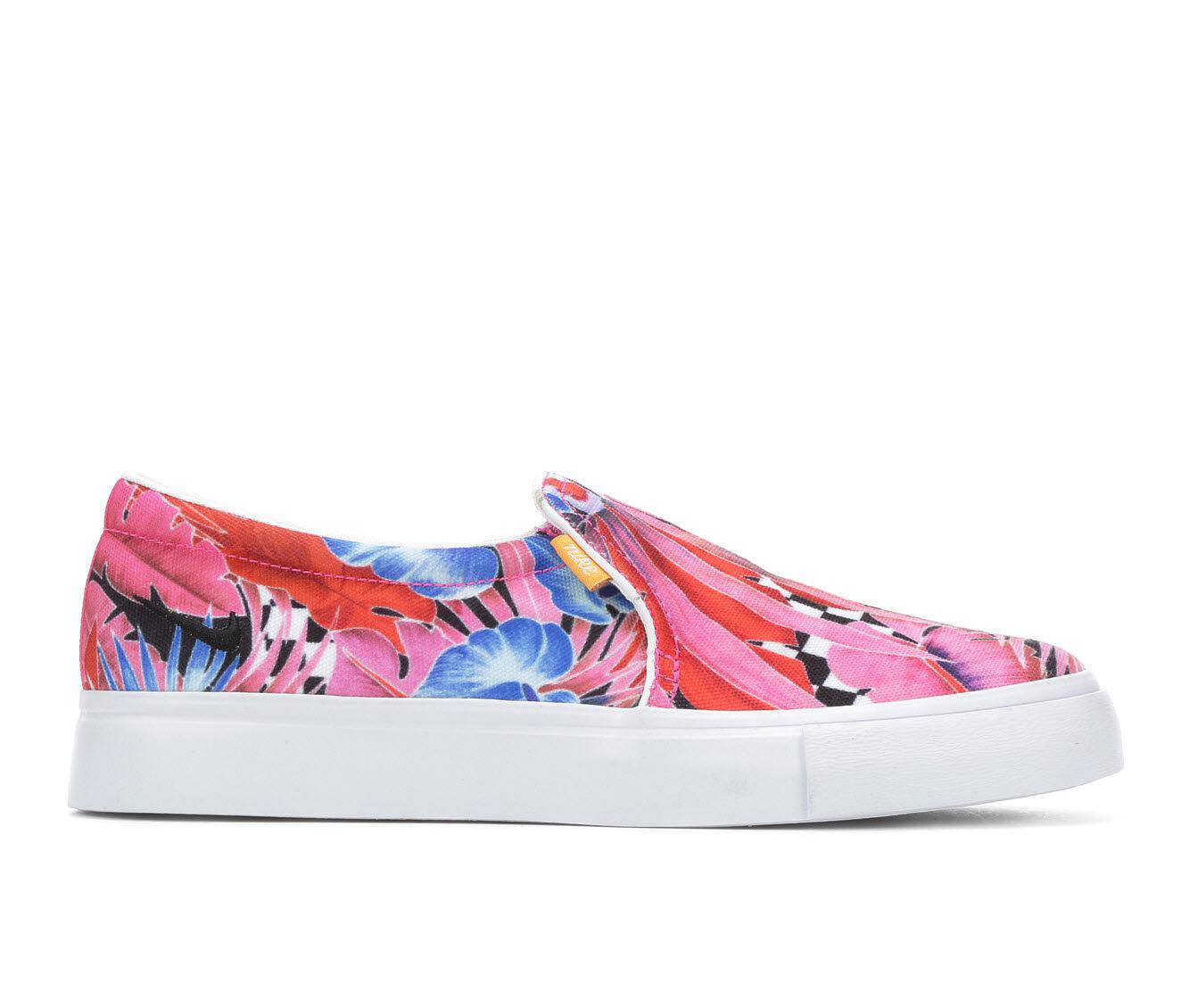 purchase cheapest Women's Nike Court Royale AC Slip On Print Sneakers Fuchsia/White