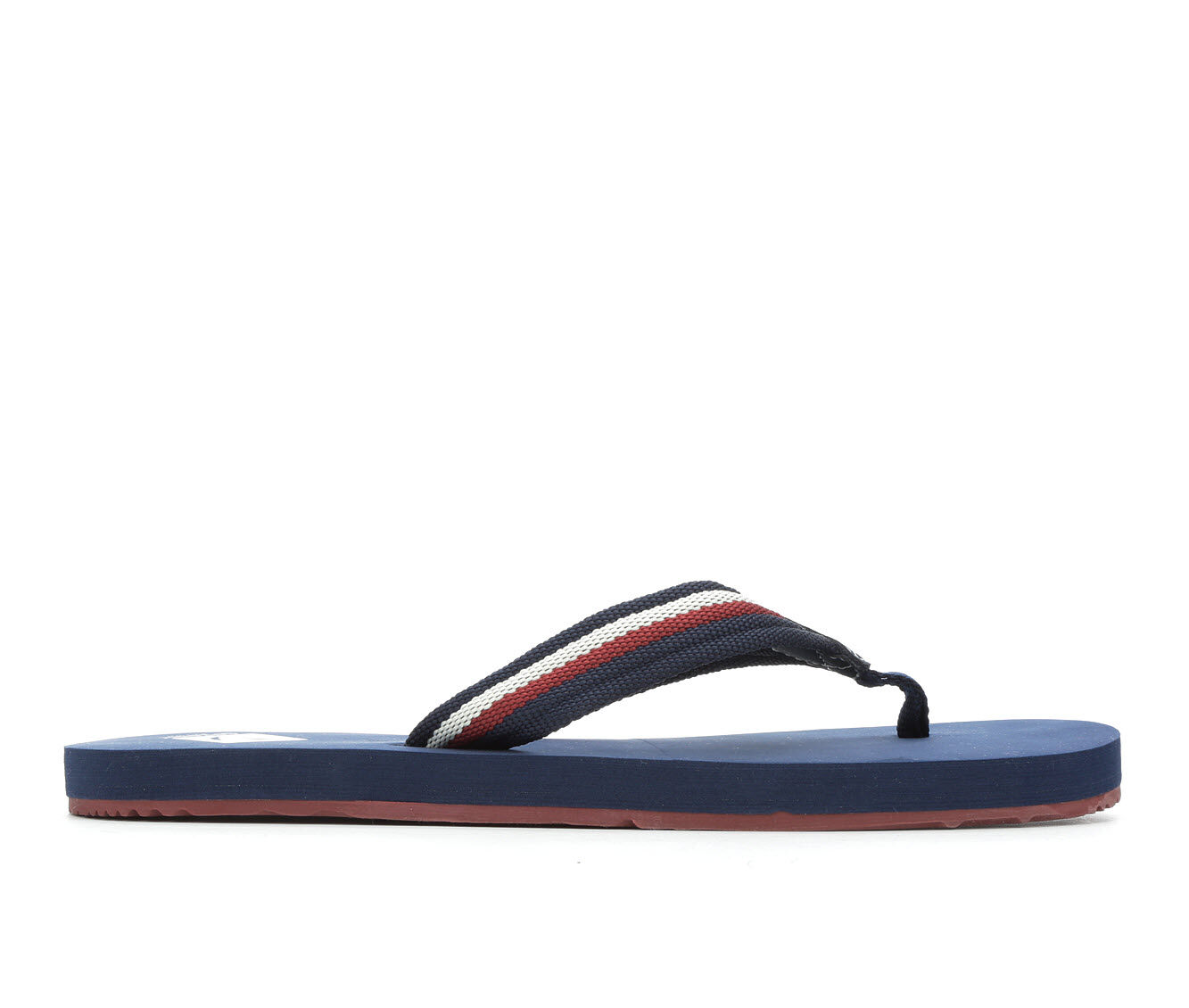 Men's Sperry Topsail Thong Flip-Flops Navy/Red