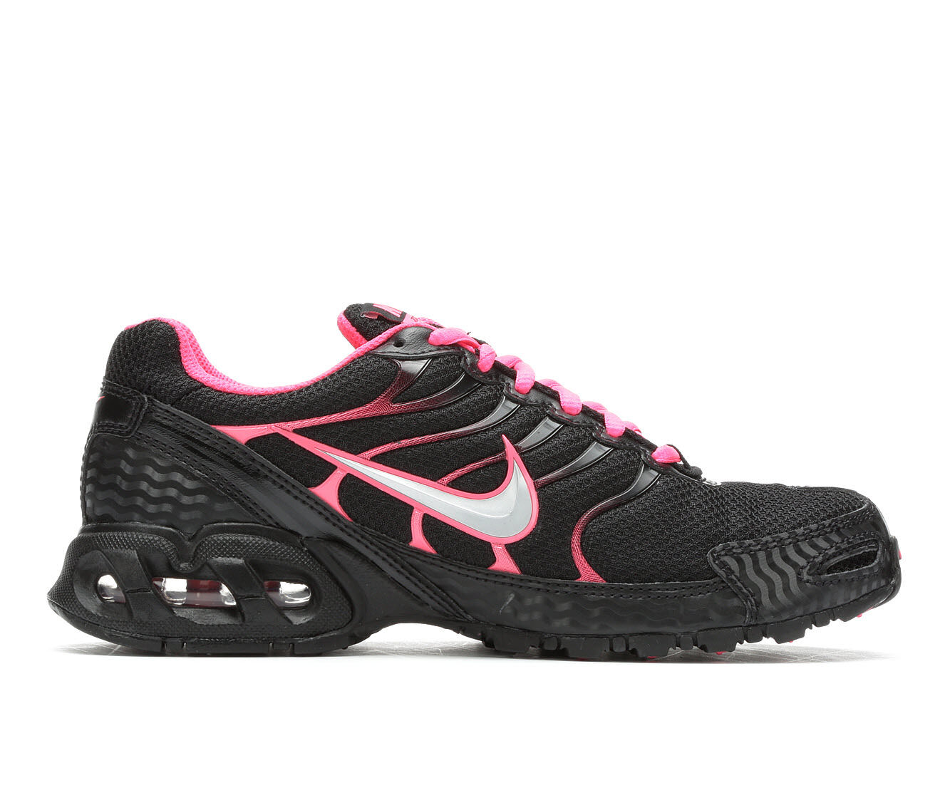 100% Quality Women's Nike Air Max Torch 4 Running Shoes Black/Pink/Silv