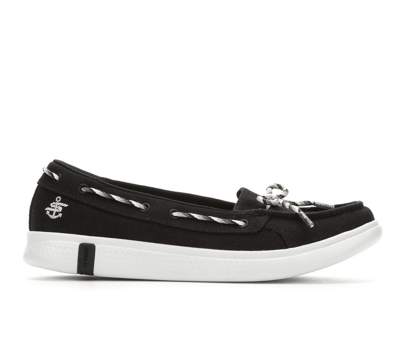Women's Skechers Go Glide Ultra 16108 Slip-On Shoes Black/White