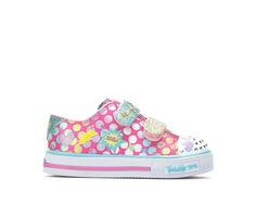 Girls' Skechers Toddler Shuffles Poppin Posse Light-Up Sneakers