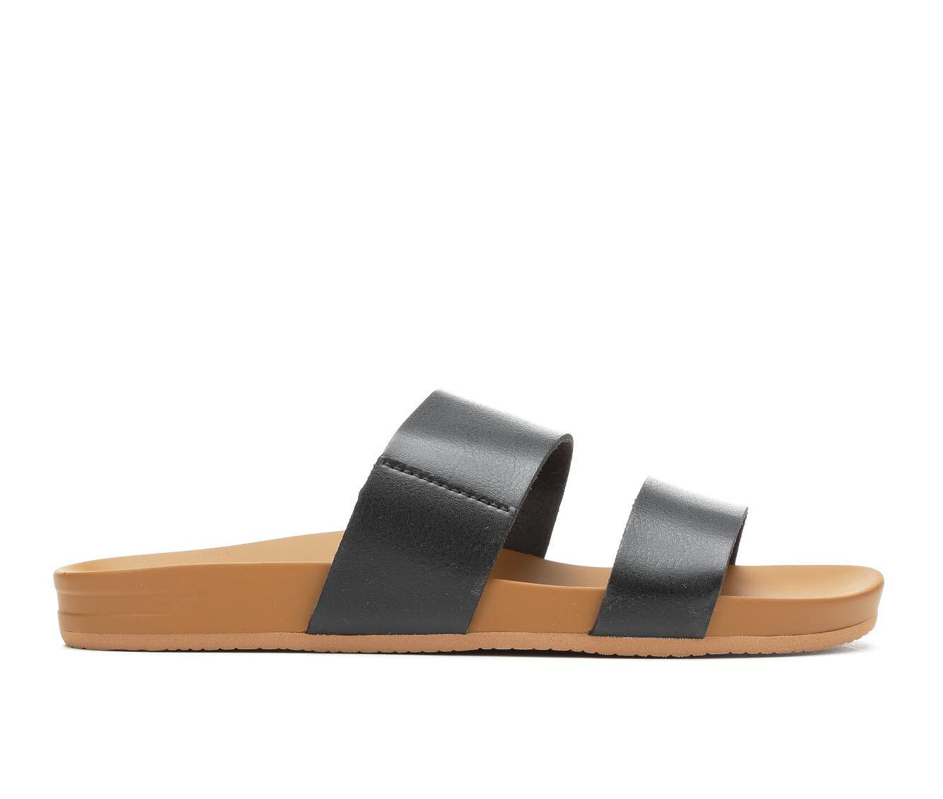 Affordable Women's Reef Cushion Bounce Vista Sandals Black/Natural