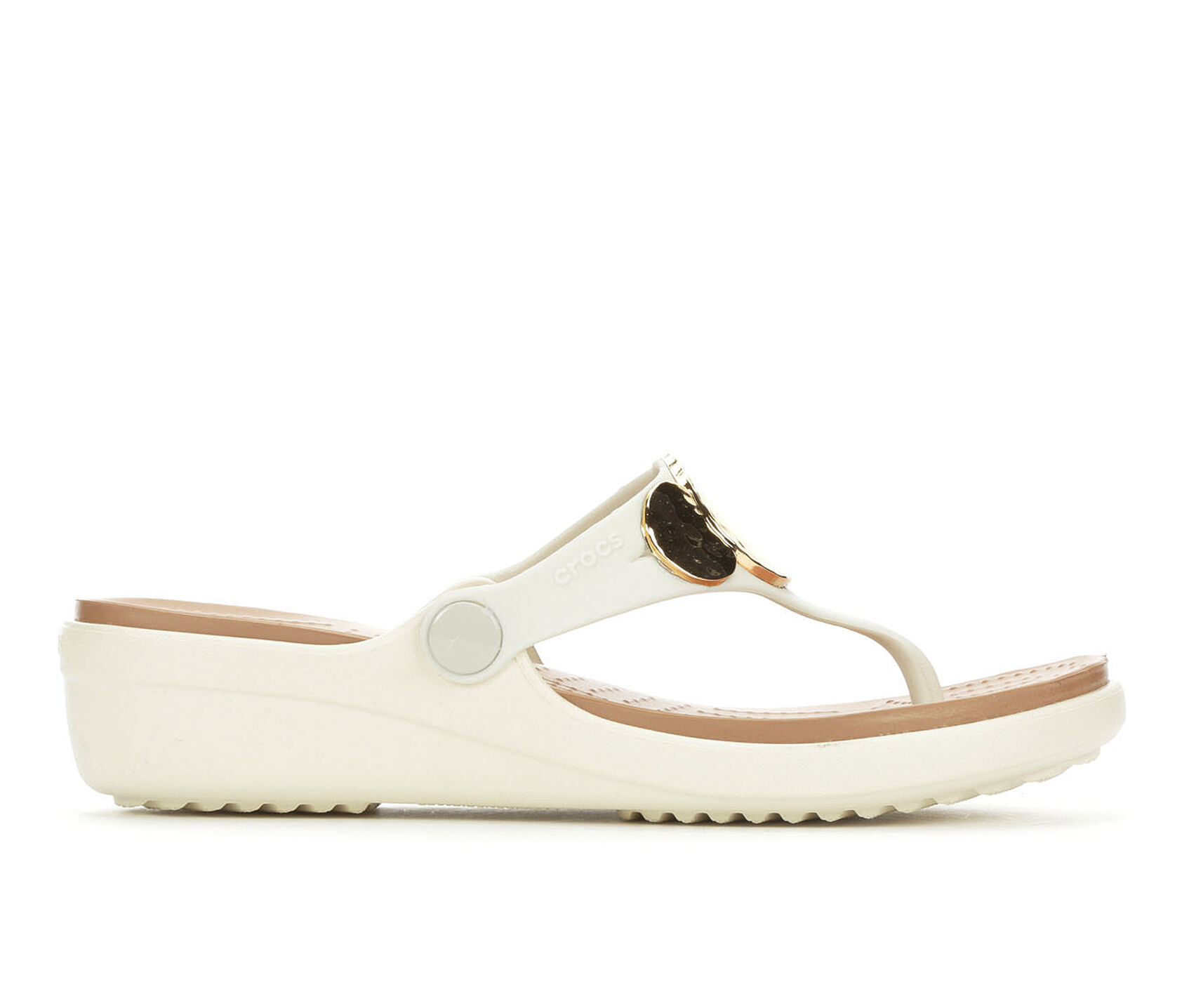 f659c4514082 Images. Women  39 s Crocs Sanrah Embellished Wedge Flip-Flops