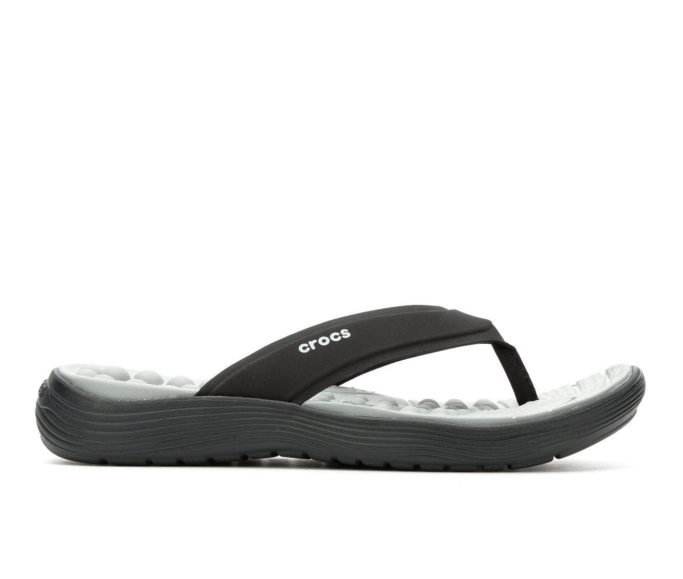 authentic store Women's Crocs Reviva Flip-Flops Black/Black