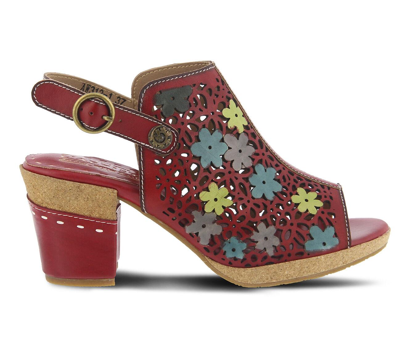 Women's L'ARTISTE Pricilla Dress Sandals Red