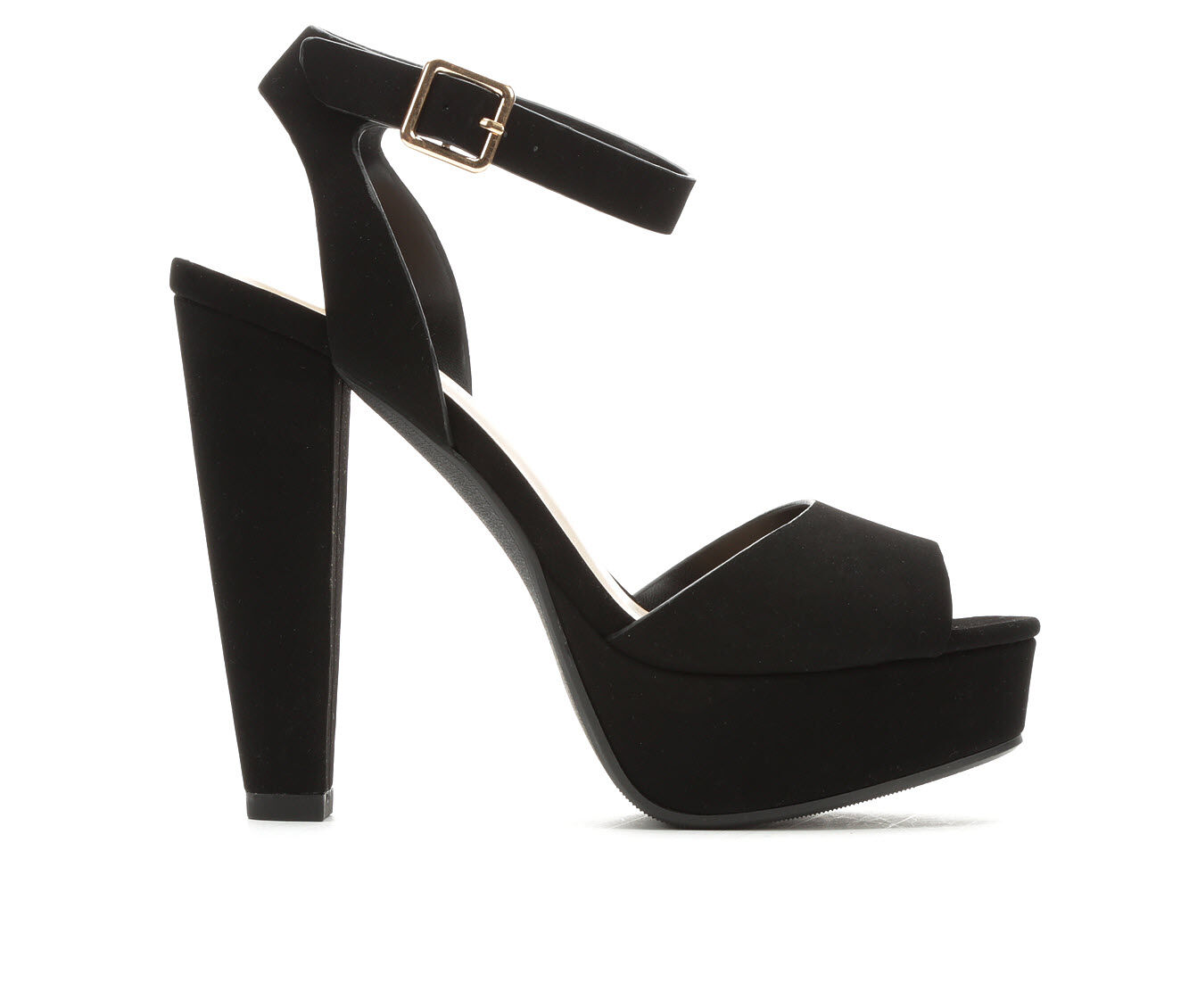Women's Delicious Purify Heeled Sandals Black Nub