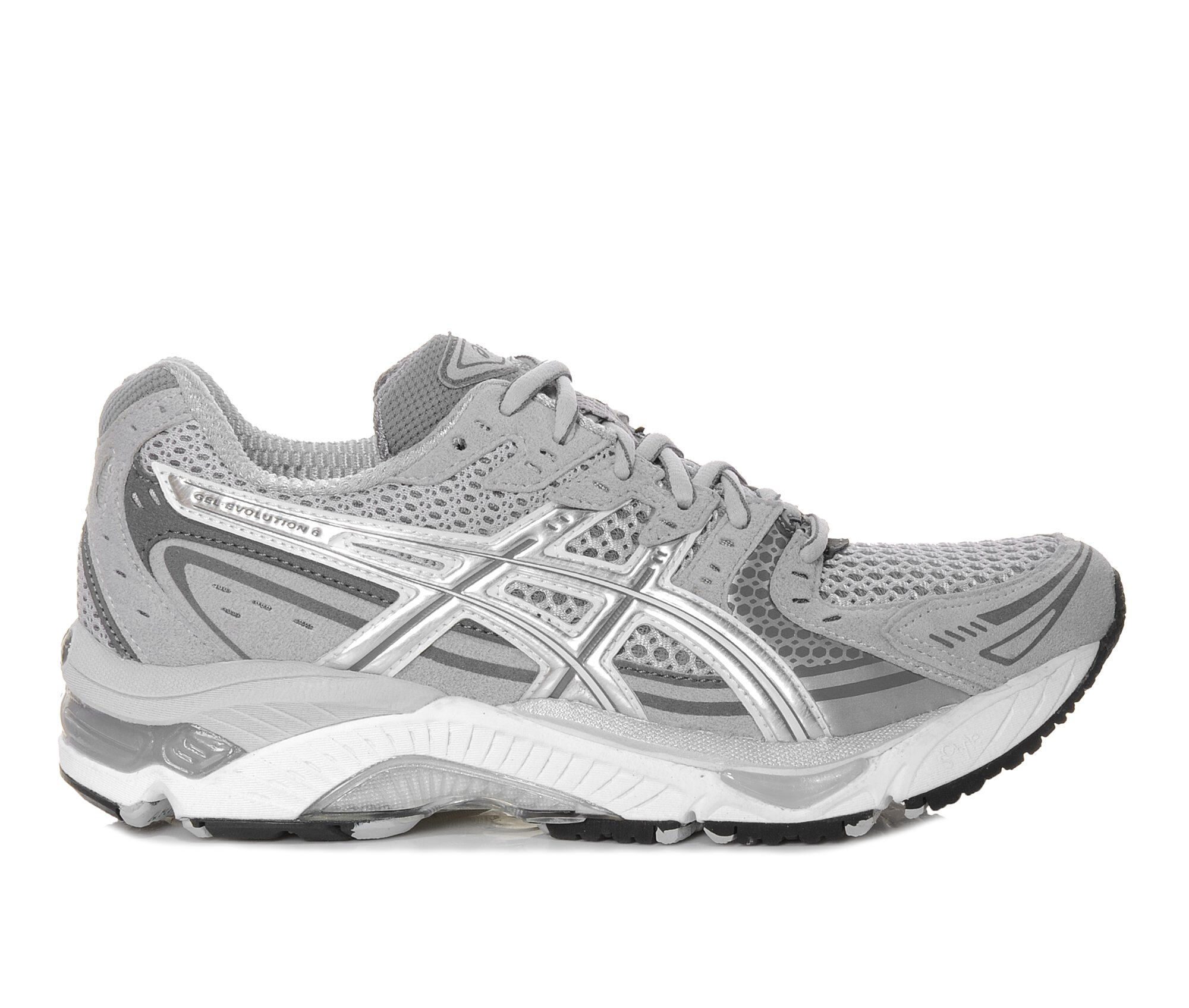 Women's ASICS Gel Evolution 6 Running Shoes Grey/White