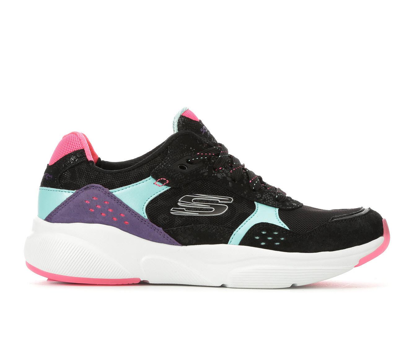 Women's Skechers No Worries 13020 Sneakers Black/Pink/Mint