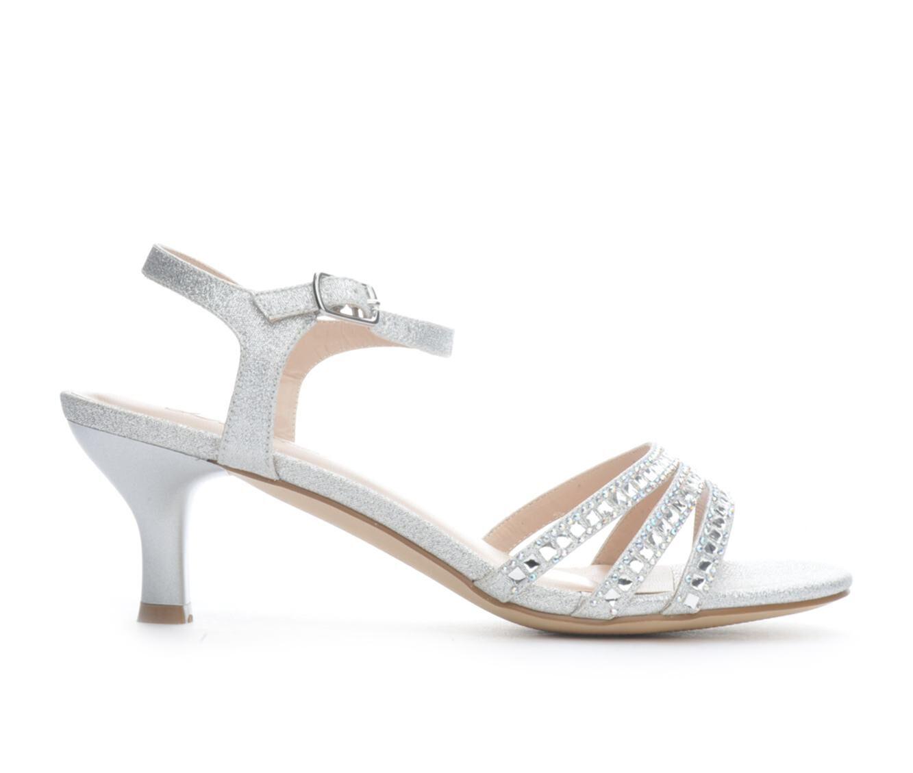 Women's LLorraine Berkly Heeled Dress Sandals Silver