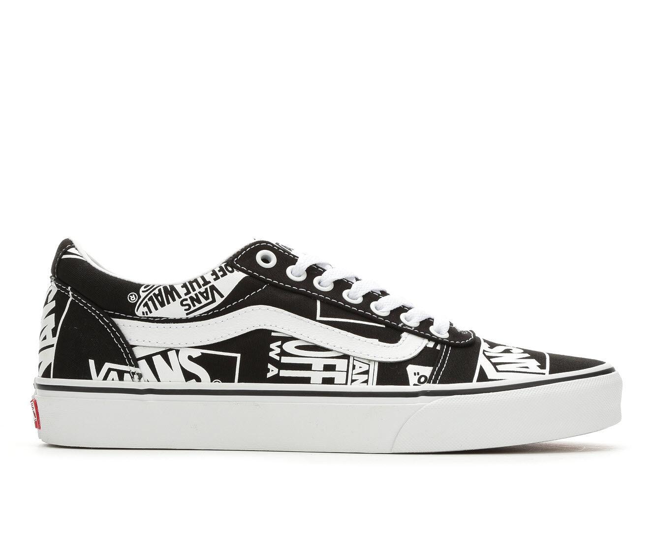 Men's Vans Ward Skate Shoes Bk/Wh Logo
