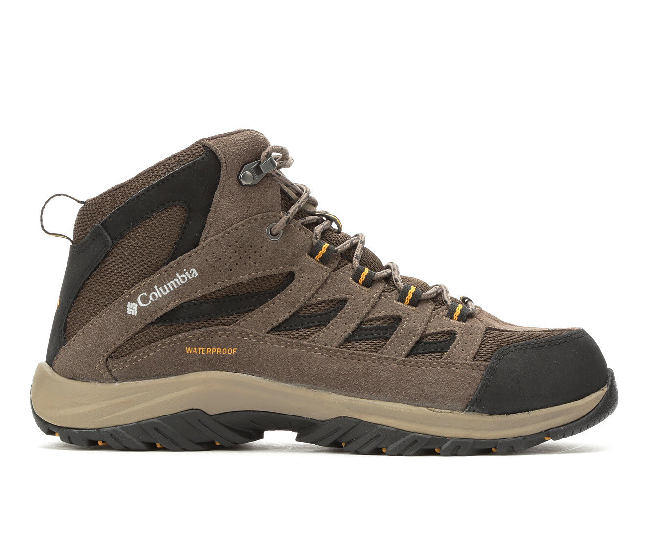 choose classic Men's Columbia Crestwood Mid Waterproof Hiking Boots Cordovan/Squash