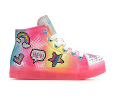 Girls' Skechers Little Kid & Big Kid Shuffle Brights Light-Up Sneakers