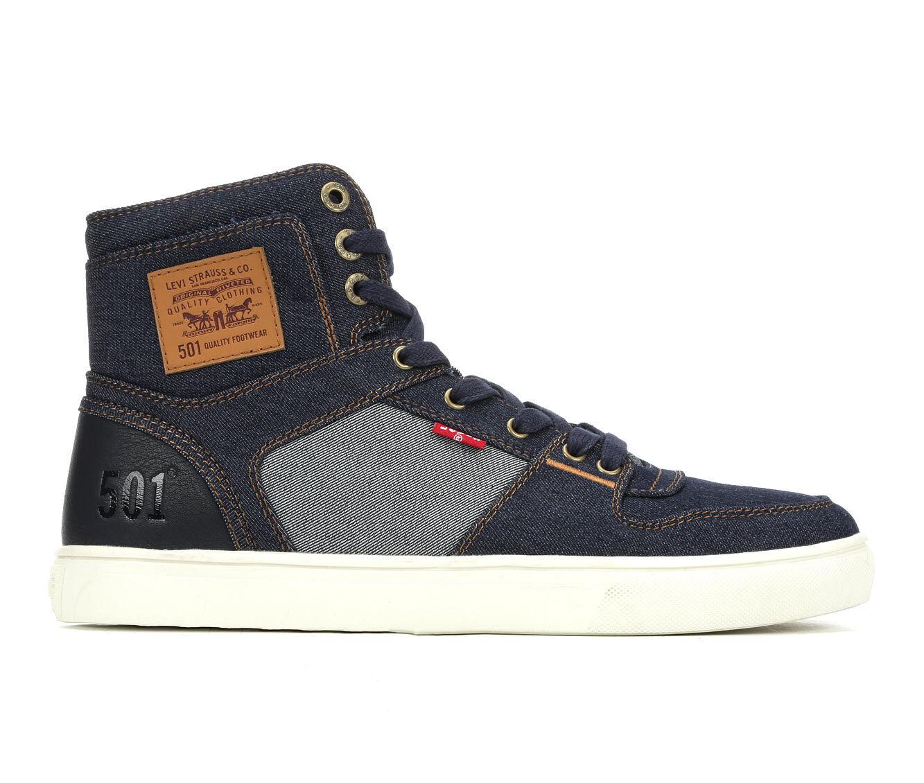 Sale Low Price Men's Levis Mason Hi 501 Denim Casual Shoes Navy/Reverse