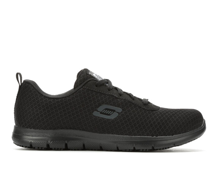 sale retailer factory shoes for cheap Women's Skechers Work 77210 Bronaugh Slip Resistant Safety Shoes