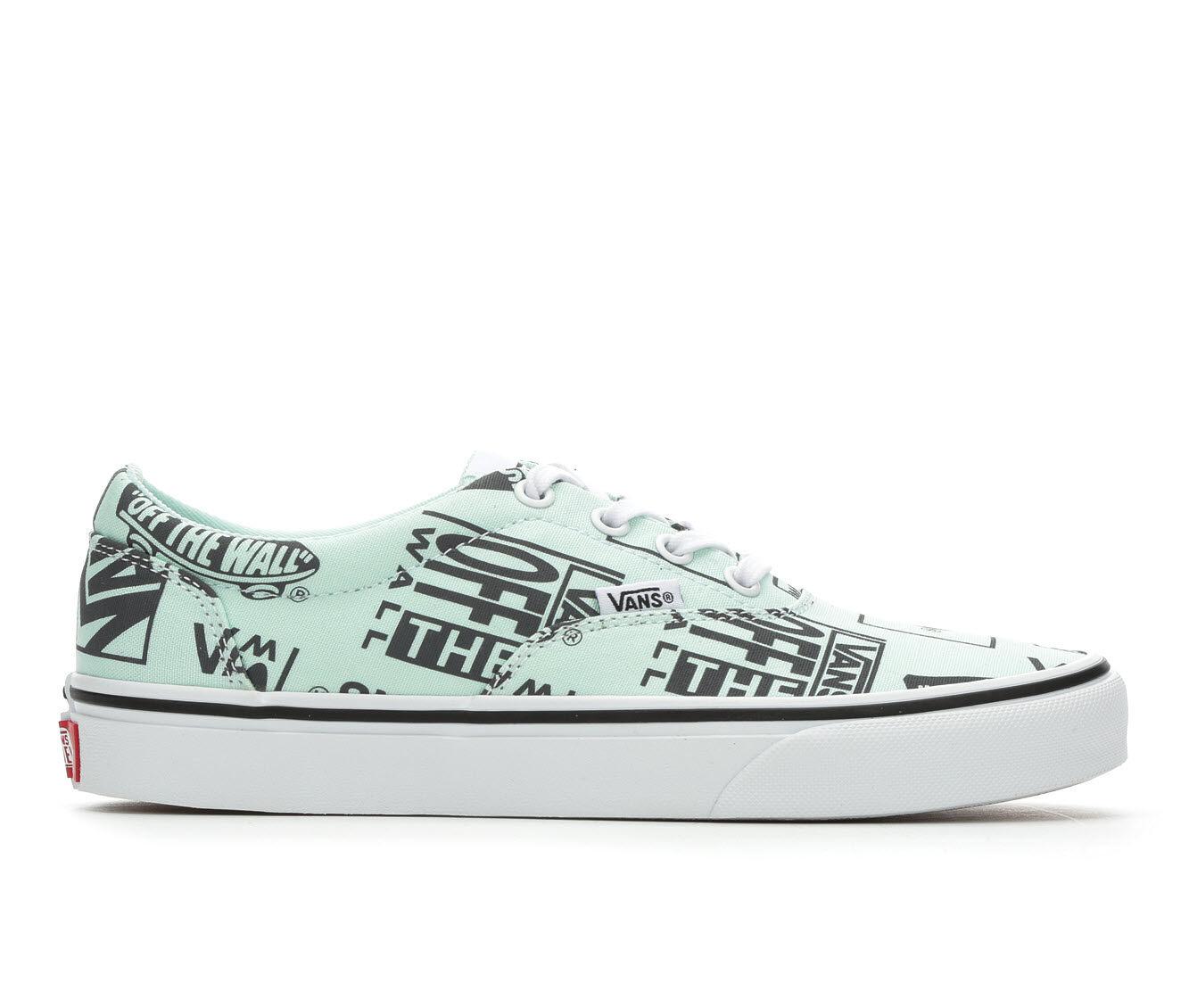 Women's Vans Doheny Skate Shoes Green Logo