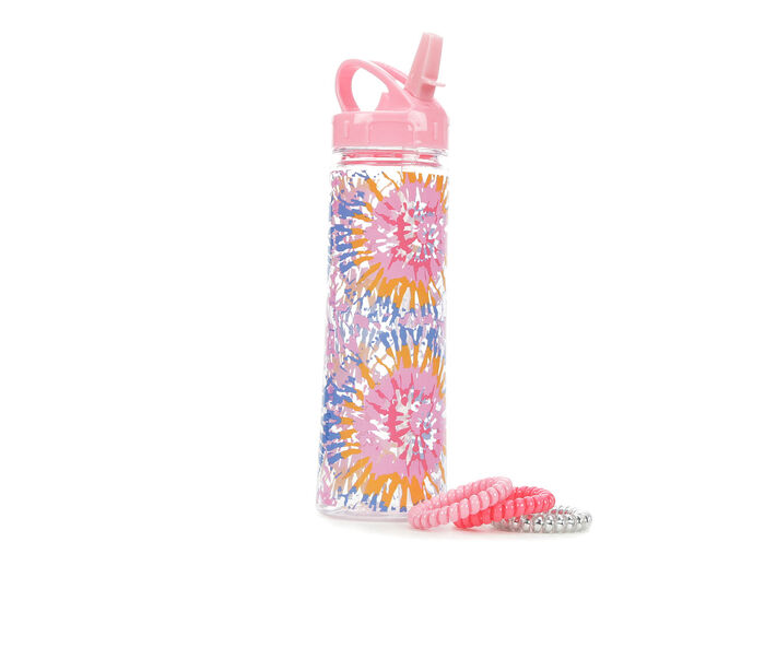 Capelli New York Water Bottle and Hair Ties Set