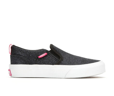 Girls' Vans Asher G 10.5-6 Slip-On Skate Shoes