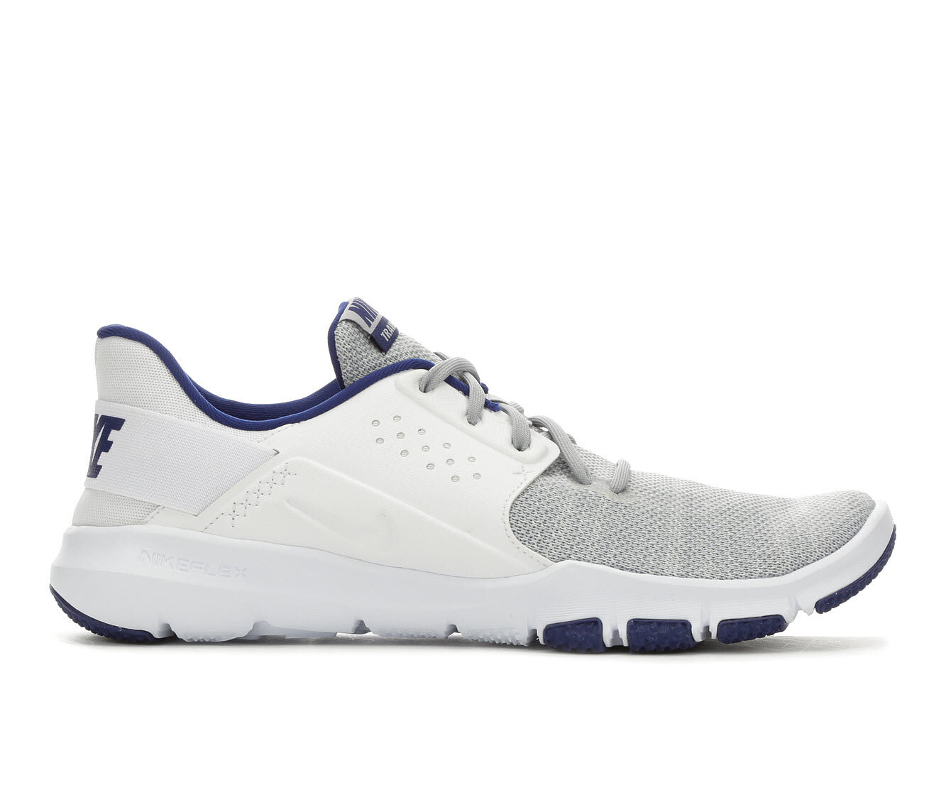 Men's Nike Flex Control TR3 Training Shoes Wht/Gry/Blu 004