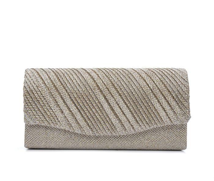 Four Seasons Handbags Small Diagonal Stripe Evening Clutch