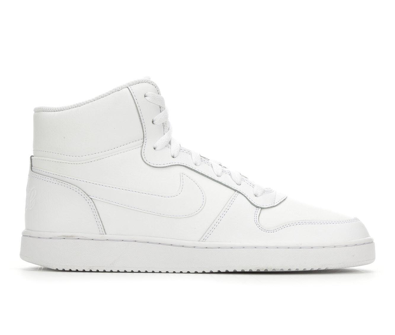 Men's Nike Ebernon Mid Sneakers White/White