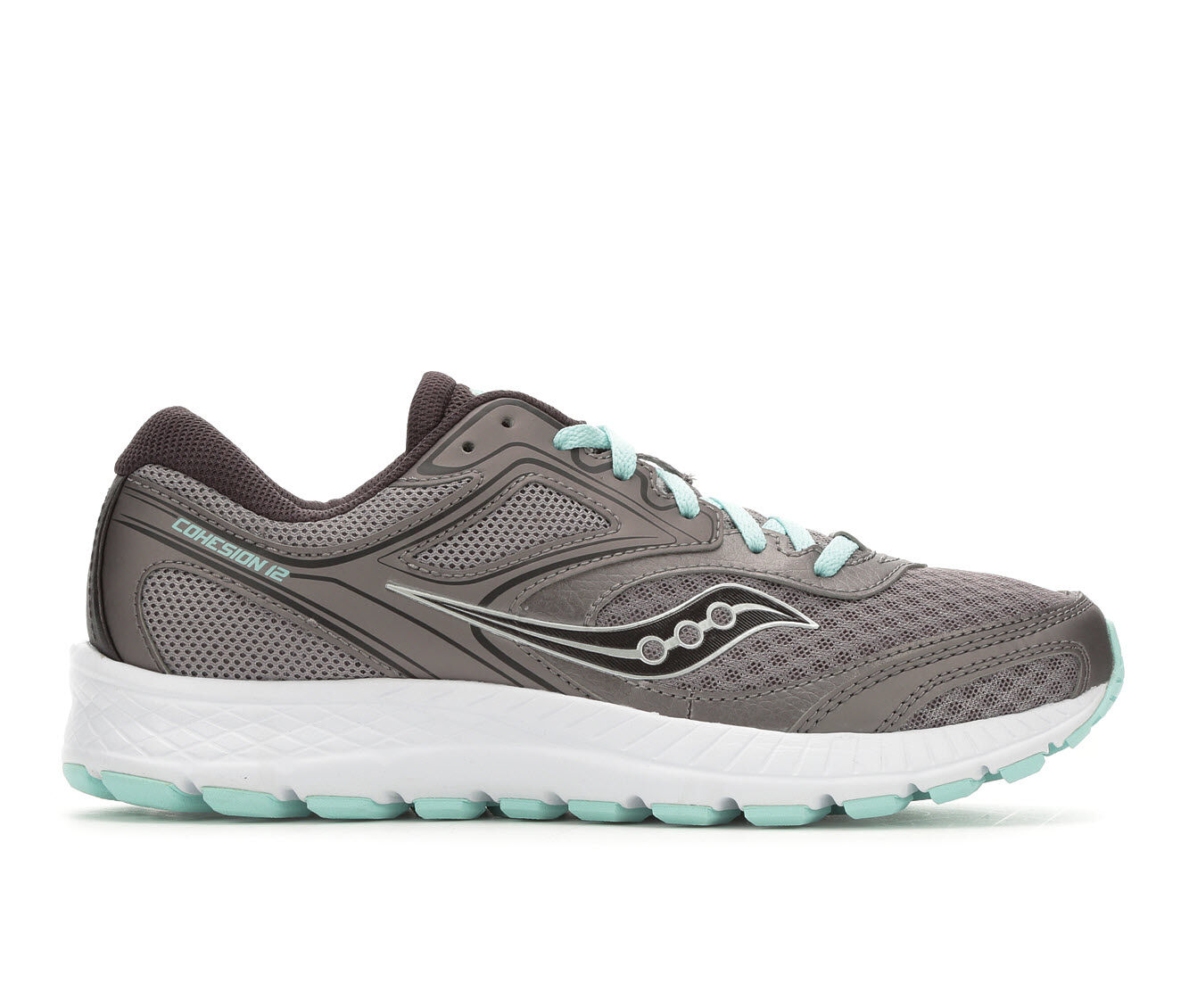 Women's Saucony Cohesion 12 Running Shoes Grey/Turq