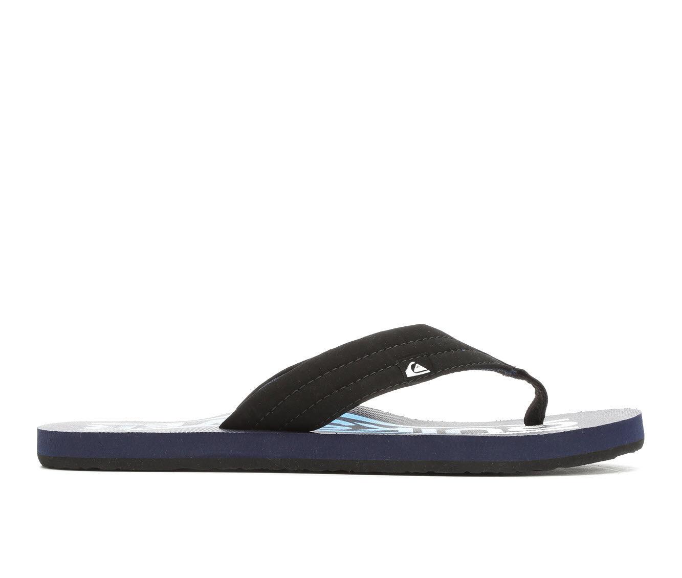 Men's Quiksilver Foundation 2 Flip-Flops Black/Blue/Blac