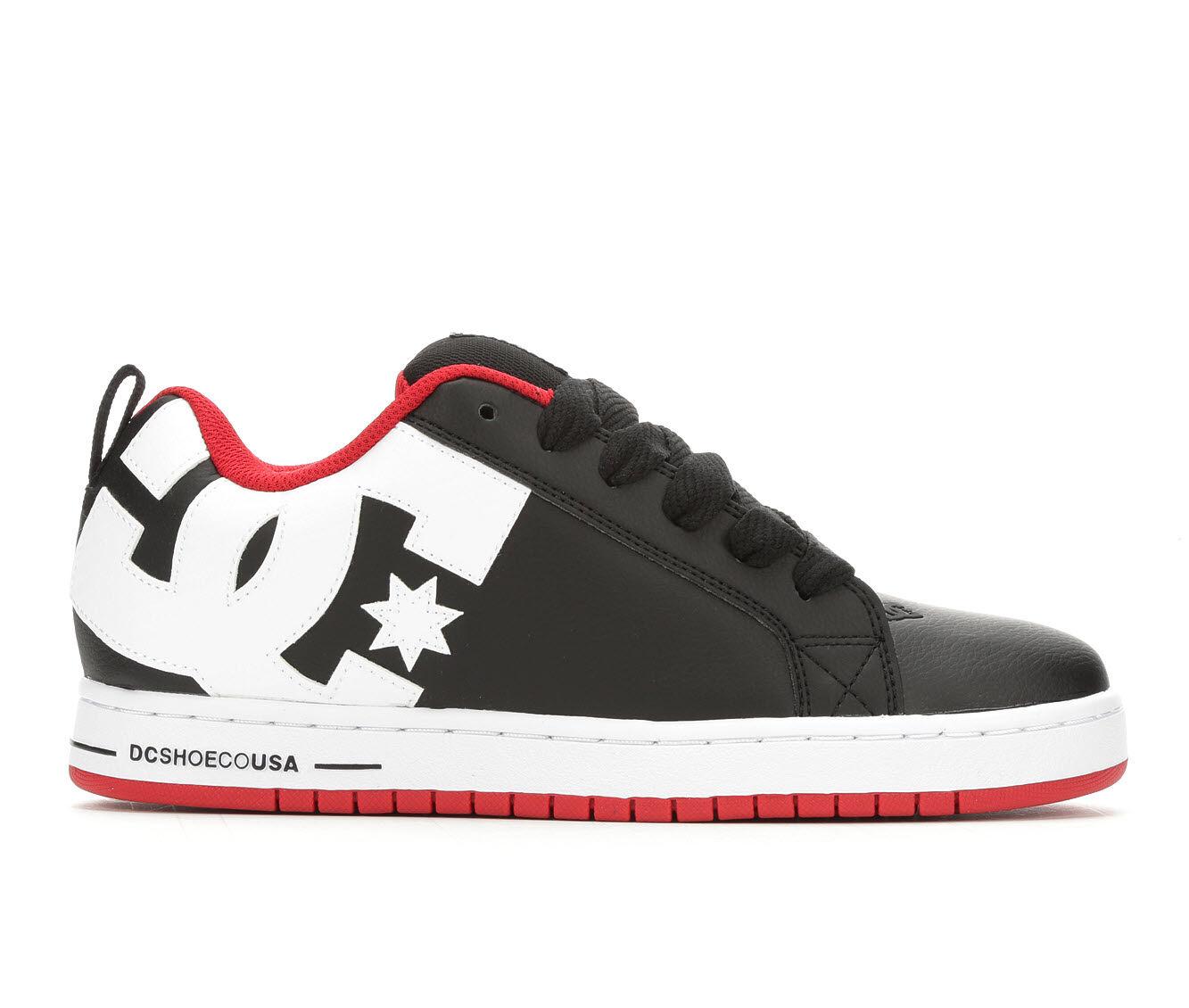 Men's DC Court Graffik Skate Shoes Blk/Wht/Rd XRKW