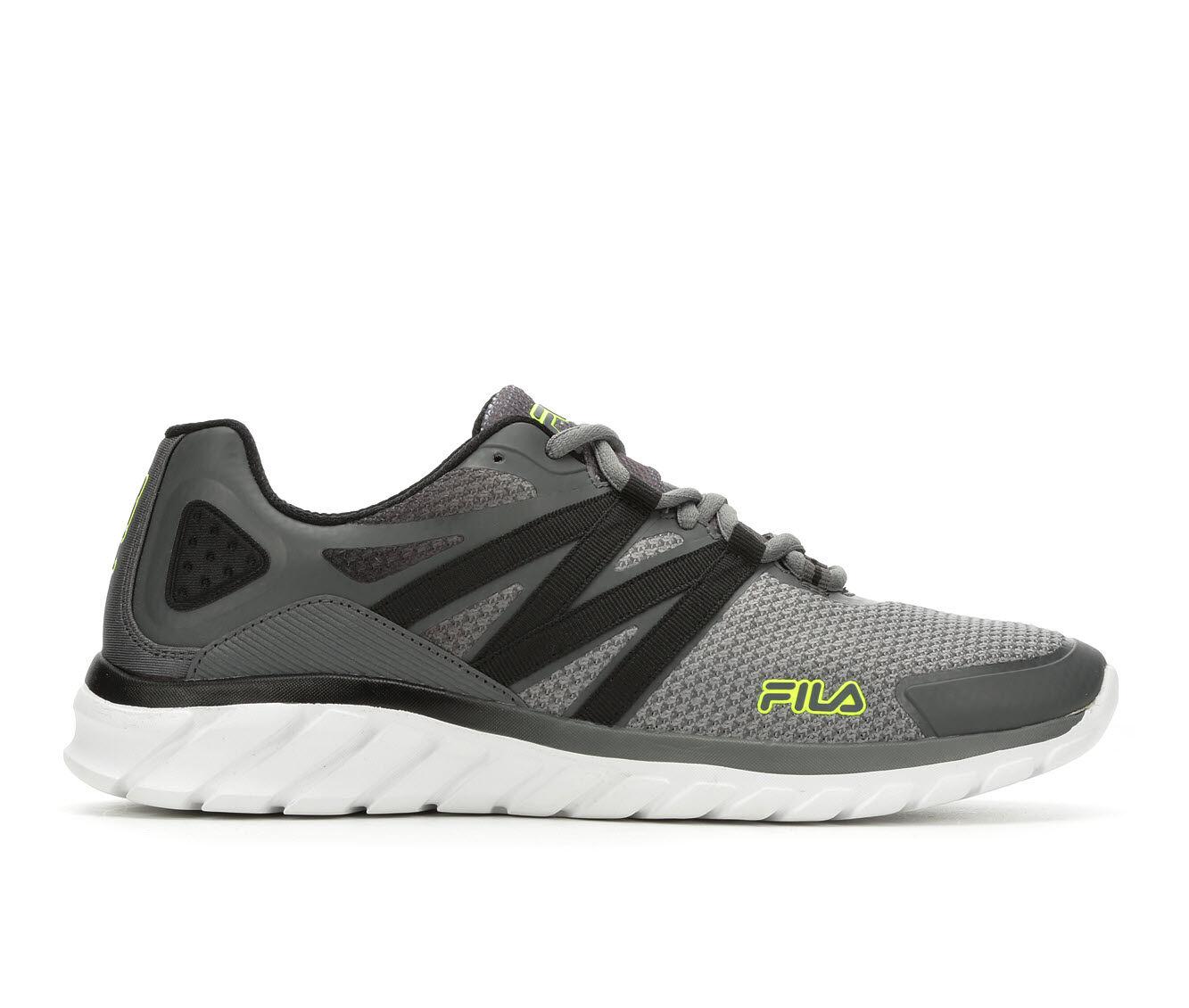 Men's Fila Memory Liftoff Running Shoes Gry/Wht/Blk/Vlt
