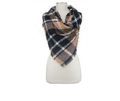 David and Young Boucle Plaid Triangle