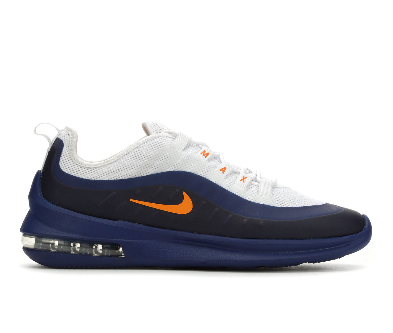 Men's Nike Air Max Axis Running Shoes Wht/Nvy/Org 106