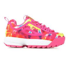 Girls' Fila Little Kid Disruptor II Tie Dye Sneakers